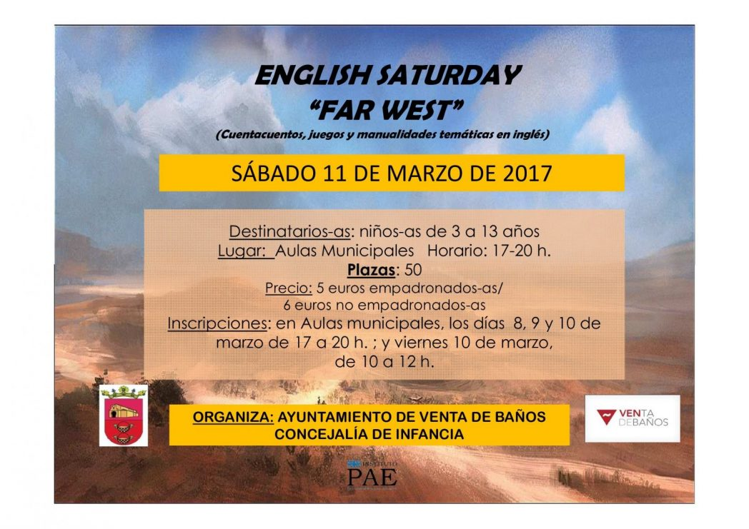 cartel_english_saturday