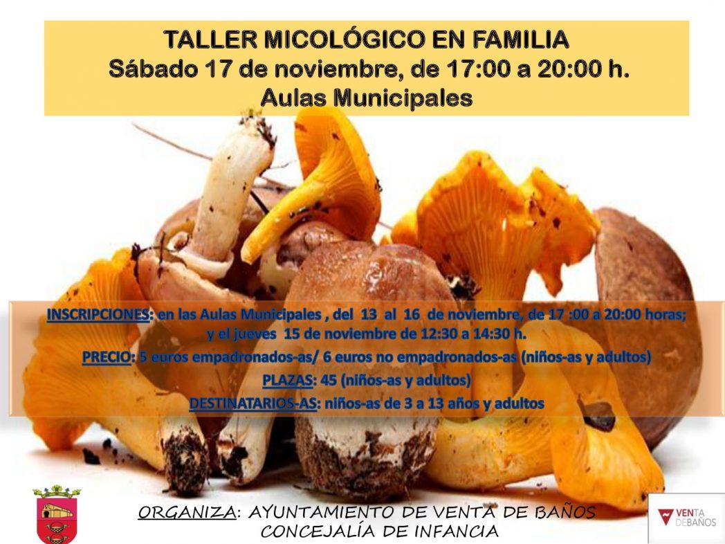 CARTEL TALLER MICOLÓGICO EN FAMILIA 17 DE NOVIEMBRE 2018-001