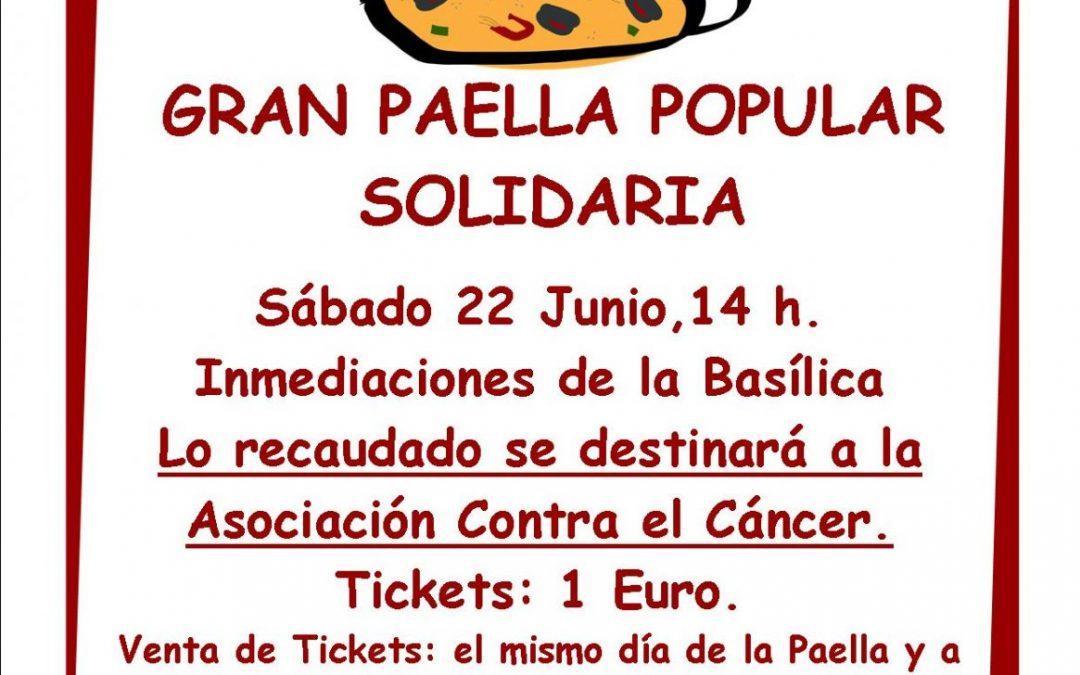 Gran Paella Popular Solidaria. Fiestas San Juan. Baños de Cerrato.