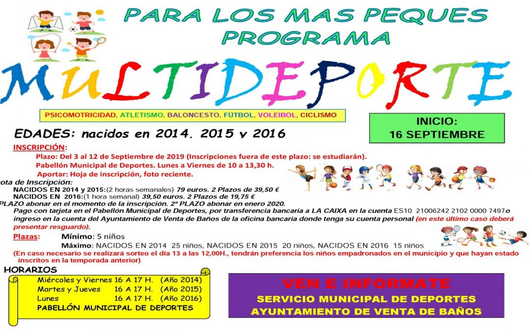 Programa Multideporte 2019/2020