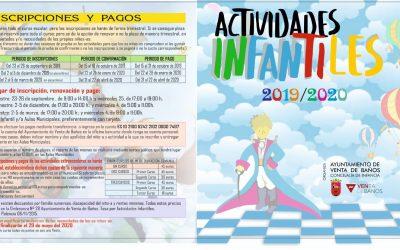 Actividades Infantiles 2019/2020