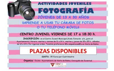 Actividades Juveniles: Fotografía.
