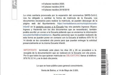 Bando Escuela Infantil