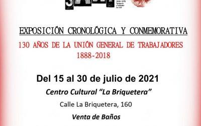 """Exposición """"130 AÑOS DE LA UGT 1888-2018"""""""